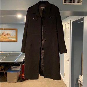 Wool dress pea coat